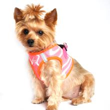 American River Choke Free Dog Harness Neon Sport Collection by Doggie Design - Iridescent Pink
