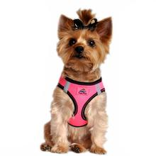 American River Top Stitch Dog Harness by Doggie Design - Iridescent Pink