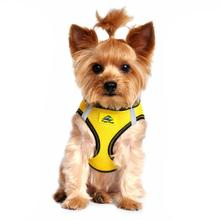 American River Top Stitch Dog Harness by Doggie Design - Vibrant Yellow