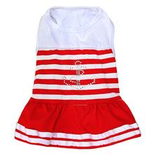 Anchor Bling Dog Dress by Parisian Pet - Red