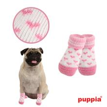 Angel Heart Dog Socks by Puppia - Pink