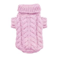 Angora Cable Knit Dog Sweater by Hip Doggie - Pink