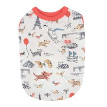 Animal Globe Dog Shirt by Puppia - Orange/Red