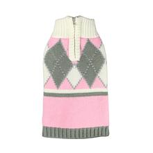 Argyle Dog Sweater by Hip Doggie - Pink