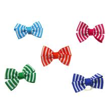 Aria Candy Stripe Dog Bows