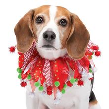 Aria Chevron and Dot Holiday Pet Scrunchy