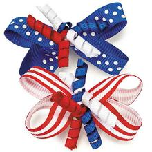 Aria Patriotic Celebration Dog Bows