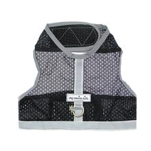 Athletic Mesh Dog Vest Harness - Black