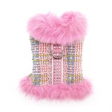 Aubrey Fur Coat Dog Harness - Pink
