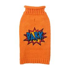 Bark Comic Dog Sweater - Orange