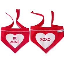 Be Mine/XOXO Reversible Dog Scarf - Red