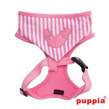 Beach Party Adjustable Dog Harness by Puppia - Pink with Hood