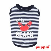 Beach Party Dog Shirt by Puppia - Navy