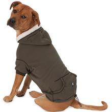 Bentley's Fur Trimmed Dog Hoodie - Olive Green