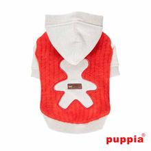 Bernie Hooded Dog Shirt by Puppia - Orange Red
