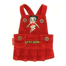Betty Boop Red Denim Skirt Dog Jumper