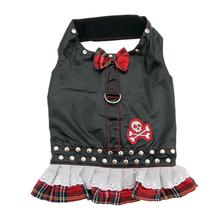 Biker Dress Dog Harness by Doggles - Red Plaid