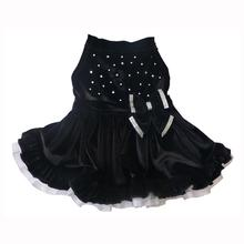 Black Velvet Rhinestone Dog Dress