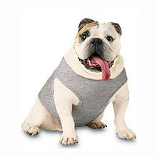 Blank Ribbed Dog Tank - Heather Gray