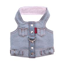 Blue Jean Jacket Denim Vest Harness by Doggles