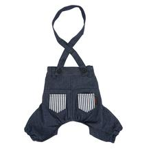 Bobby Dog Suspender Pants by Puppia - Navy