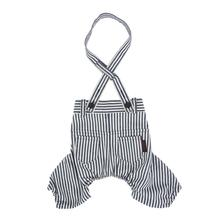 Bobby Dog Suspender Pants by Puppia - Striped Navy