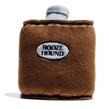 Booze Hound Flask Dog Toy - Brown