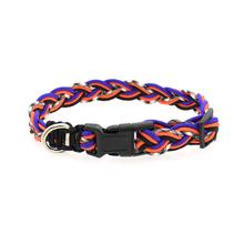 Ghost Corded Dog Collar - Orange and Blue