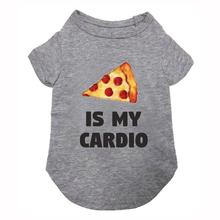 Pizza is my Cardio Dog Shirt - Heather Gray