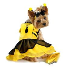 BumbleBee Fairy Dog Costume Harness Dress w/Wings, Antennae and Leash