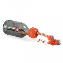 Busy Buddy Sportsmen Tug-A-Jug Dog Toy - Blaze Orange