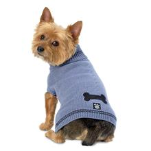 Cali's Cable Knit Dog Sweater - Stonewash Blue