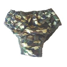 Camo Pocket Dog Sanitary Pants by Puppe Love