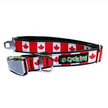 Canada Maple Leaf Metal Latch Dog Collar by Cycle Dog