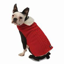 Carle's Cable Dog Sweater Jacket - Red