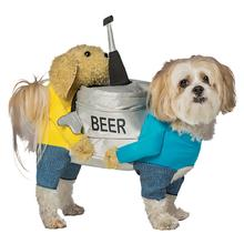 Carrying Beer Keg Dog Costume