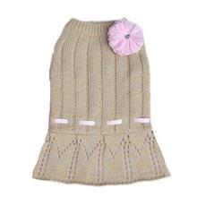 Cassidy Dog Sweater Dress - Gold