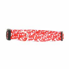 Casual Canine Pooch Pattern Dog Collar - Red Bone