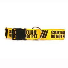 Caution Dog Collar by Yellow Dog - Do Not Pet