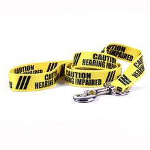 Caution Dog Leash by Yellow Dog - Hearing Impaired