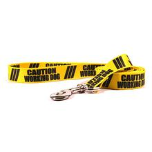 Caution Dog Leash by Yellow Dog - Working Dog