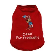 Cesar for President Dog Harness Shirt