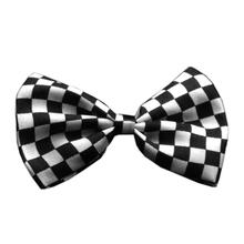 Checkered Dog Bow Tie - Black