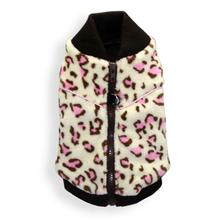Cheetah Mink Vest by Hip Doggie - White