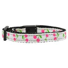 Cherries Nylon Safety Cat Collar - White