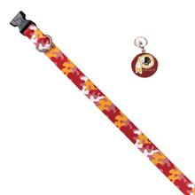 Washington Redskins Team Camo Dog Collar and Tag by Yellow Dog