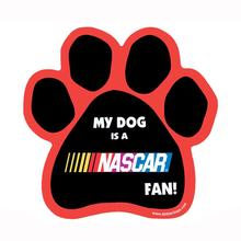 NASCAR Dog Paw Car Magnet