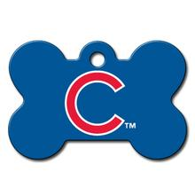 Chicago Cubs Engravable Pet I.D. Tag - Bone