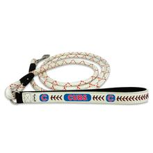 Chicago Cubs Frozen Rope Leather Dog Leash