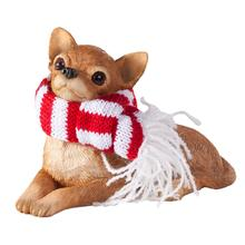 Chihuahua Lying Christmas Ornament - Tan